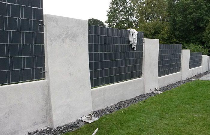 Sichtbeton Zaun Nachher • betkos | betonkosmetik
