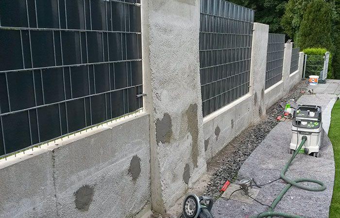 Sichtbeton Zaun Vorher • betkos | betonkosmetik