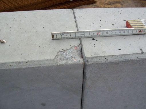 Abgeplatzte Ecke Sichtbeton • betkos | betonkosmetik